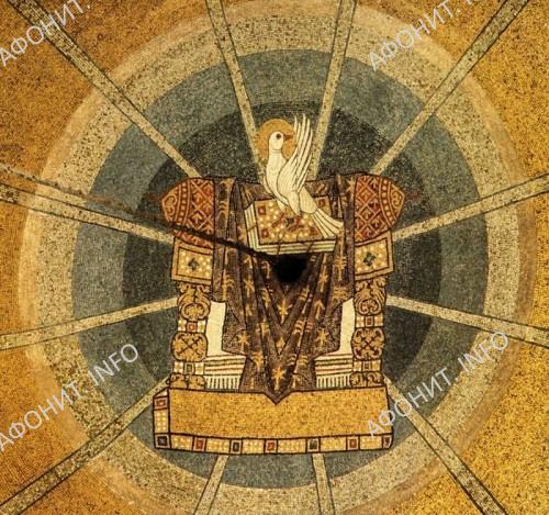 Пятидесятница. Мозаичный свод. Фрагмент. Собор св. Марка, Венеция