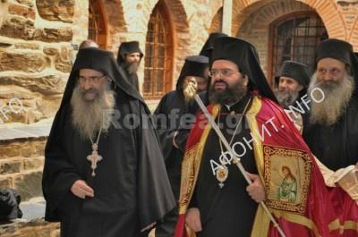 Панигир в афонском монастыре Ставроникита