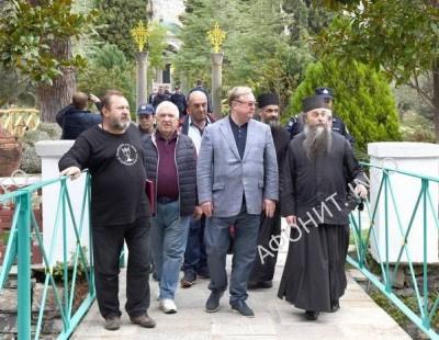 С. В. Степашин в Русском Пантелеимоновом монастыре на Афоне