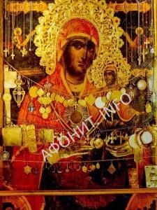 чудотворная икона святой Анны в афонском скиту святой Анны