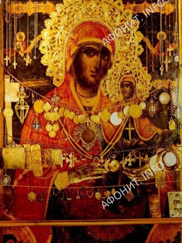 Чудотворная икона святой праведной Анны в скиту Святой Анны на Горе Афон