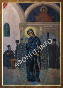 Светописанный образ Пресвятой Богородицы в Русском на Святой Горе Афонской Свято-Пантелеимоновом монастыре
