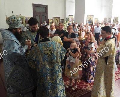 Престольный праздник в храме в честь явления на Афоне Светописанного образа Богородицы