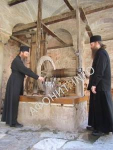 Архиереи Томской митрополии на Афоне в монастыре Хиландар