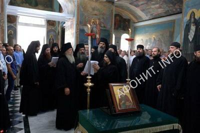 Панигир в Русском на Афоне Пантелеимоновом монастыре, 9 августа 2016 г.