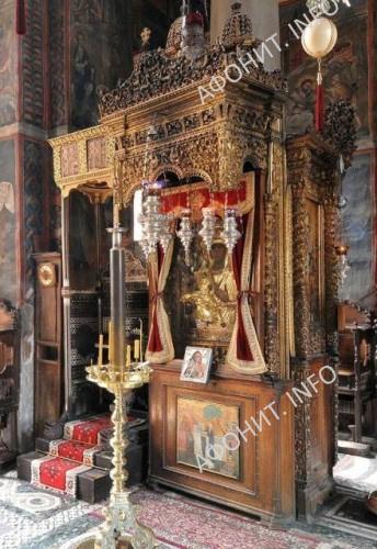 "Икона Божией Матери ""Троеручица"". Монастырь Хиландар. Святая Гора Афон"