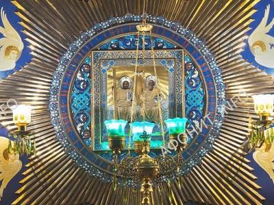 Чтимый образ Святой и Живоначальной Троицы в русской обители на Афоне