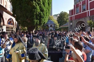 Панигир на Успение в Ивероне на Афоне