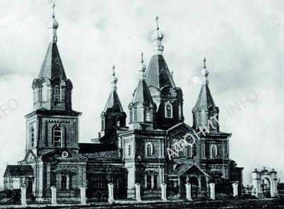 Разрушенный коммунистами в 1936 г. Успенский храм в Мариуполе