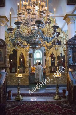Успенский храм Пантелеимонова монастыря на Афоне