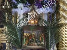 В Афонском Пантелеимоновом монастыре встретили Вход Господень в Иерусалим