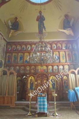 Внутренний вид главного монастырского Пантелеимоновского храма в Хуст-Колесарово, фото Сергея Шумило, октябрь 2015 г.