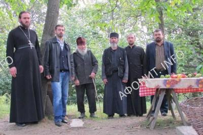 Архимандрит Дионисий (Бонь) и делегация Международного института афонского наследия в Украине (МИАНУ)