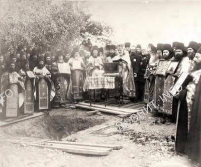 Закладка храма и новой монастырской больницы в Руссике. 14 мая 1896 г.