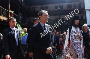 Премьер-министр Болгарии Пламен Орешарский в Зографском монастыре на Афоне