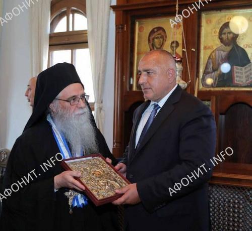 Премьер-министр Болгарии Бойко Борисов и члены правительства в Священном Киноте Афона