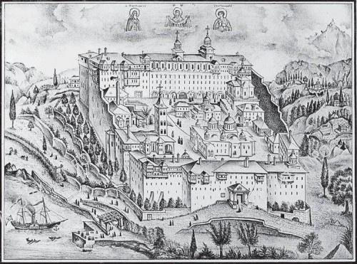 Русский Пантелеимонов монастырь на Афоне - Новый Прибрежный Русик, первая половина XIX века