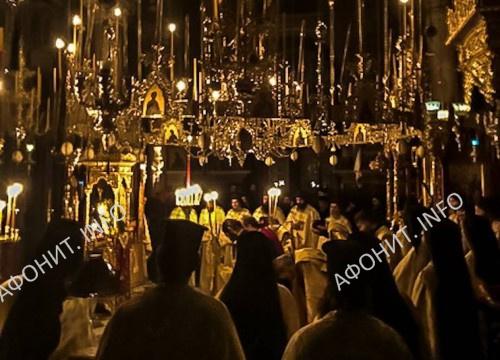Митрополит Иерисосский и Святогорский Феоклит в афонском монастыре Агиа Павла