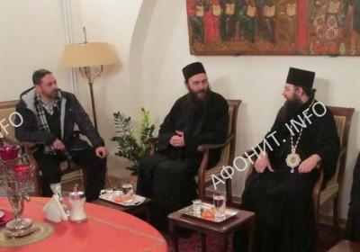 Епископ Климент Ирпенский и игумен монастыря Хиландарь архим. Мефодий
