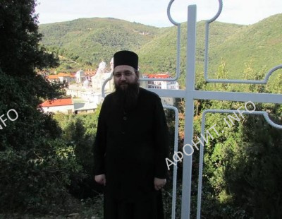 Епископ Климент Ирпенский на Афоне Свято-Ильинского скита на Афоне