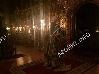 Панигир на Покрова Богородицы в Пантелеимоновом монастыре на Афоне