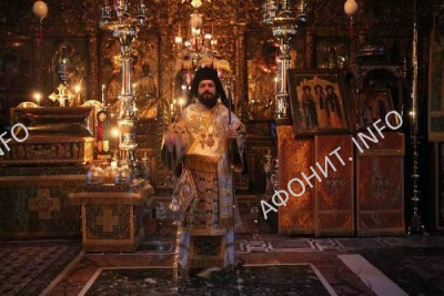 Львовский епископ УПЦ совершил богослужение в Русском на Афоне Пантелеимоновом монастыре