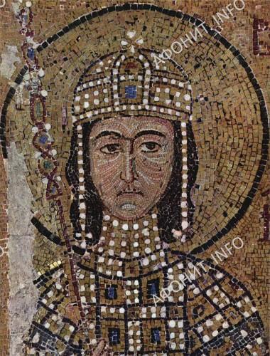 Император Алексей Комнин. Мозаика. XII в. Собор Святой Софии в Константинополе
