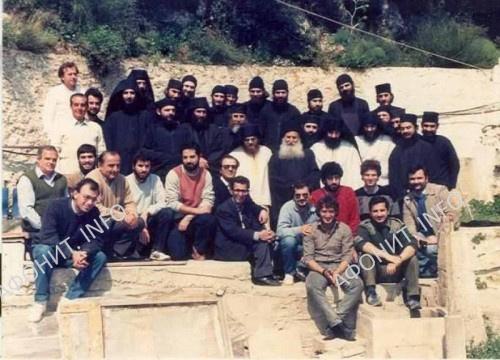 Пасха 1987 года. Последняя фотография в Новом скиту накануне отъезда в Ватопед