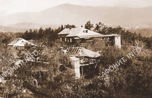 Космодемьянская келлия Руссика во времена отца Сергия. Сегодня полностью разрушена