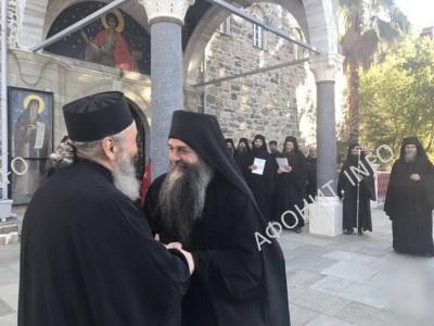 Визит Митрополита Онуфрия в Афонский Пантелеимонов монастырь, 1 ноября 2016 г.