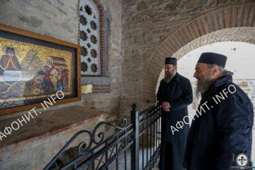 Афон. Блаженнейший митрополит Онуфрий и митрополит Антоний