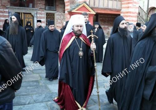 Глава ОВЦС митр. Иларион (Алфеев) совершил паломничество на Афон