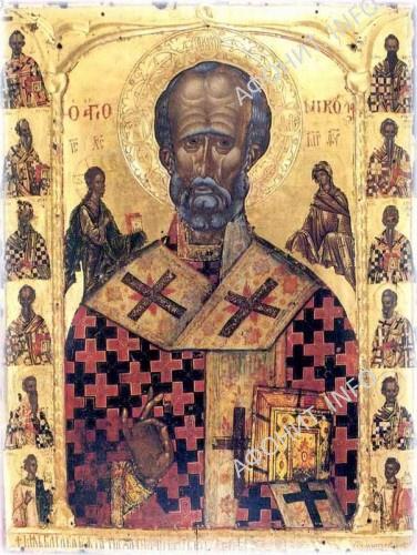 Икона святителя Николая. Монастырь Григориат, Святая Гора Афон