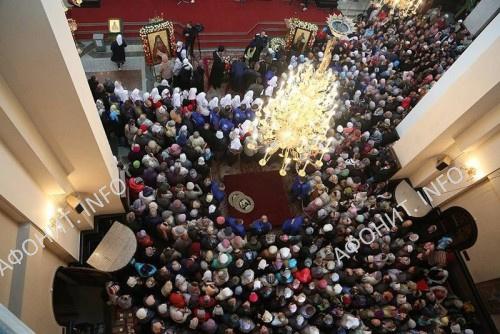 Мощи преподобного Силуана Афонского встретили в Екатеринбурге