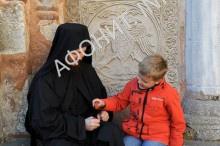 Афонский монах Досифей с детьми