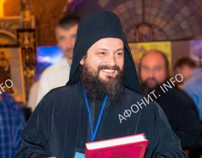 Монах Ермолай (Чежия), заведующий архивом и библиотекой Свято-Пантелеимонова монастыря на Святой Горе Афон
