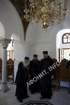игумен Иеремия посетил обитель Ксилургу