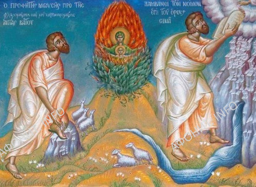 Господь дает заповеди Моисею
