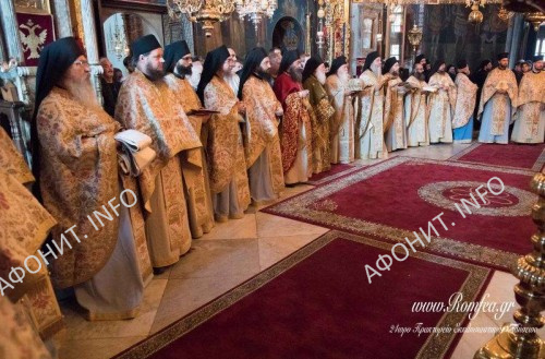 Праздник иконы Божией Матери Одигитрия в монастыре Ксенофонт