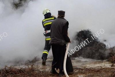 Пожар повредил лес монастыря Хиландар