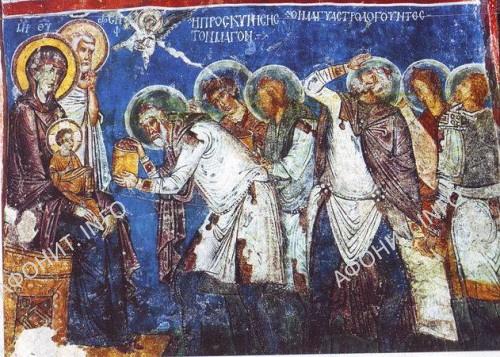 Поклонение волхвов. Фреска. Каппадокия, XIIв.