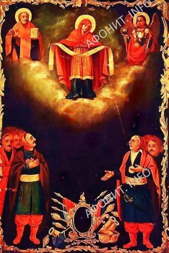 Икона Покрова Богородицы, на которой изображен Петр Калнышевский