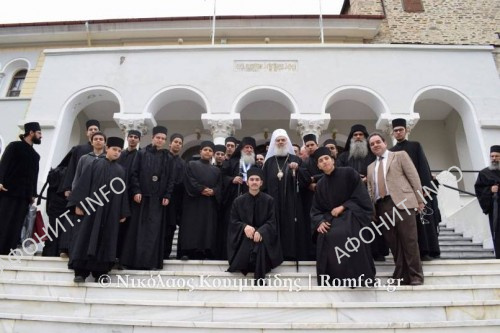 Патриарх Сербский Ириней на Святой Горе Афон