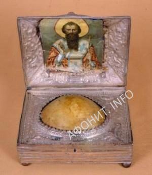 Святые мощи Русский на Афоне Свято-Пантелеимонов монастырь