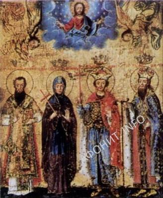 преподобная Ангелина деспотисса Сербская, её сыновья Бранковичи и Свв. Савва I архиепископ