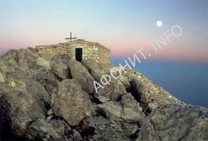 Преображенский храм на вершине Афона
