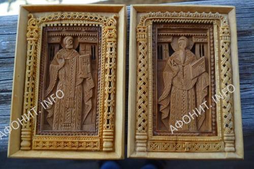 Новые царские врата главного храма афонского монастыря Дионисиат изготовил грузинский мастер